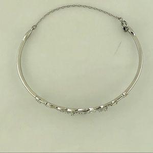 Swarovski Jewelry - Mayfly Bangle, White, Rhodium Plating
